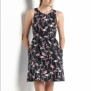 Crown & Ivy Petite Black Flamingo Sleeveless Dress